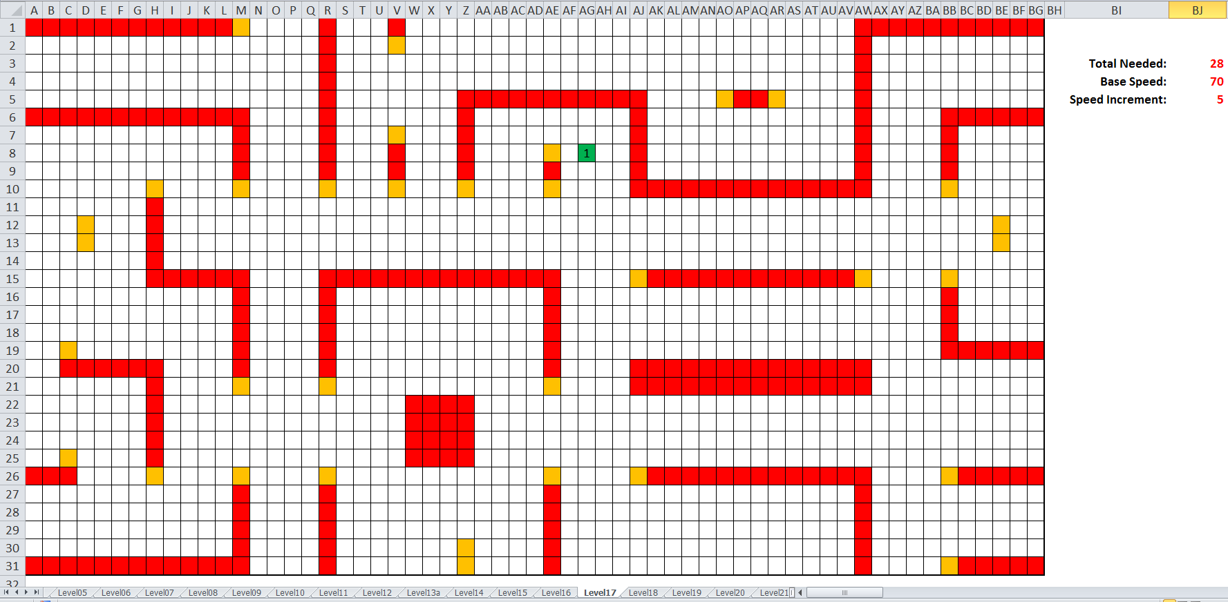 Apple Muncher Level Editor (Spreadsheet)