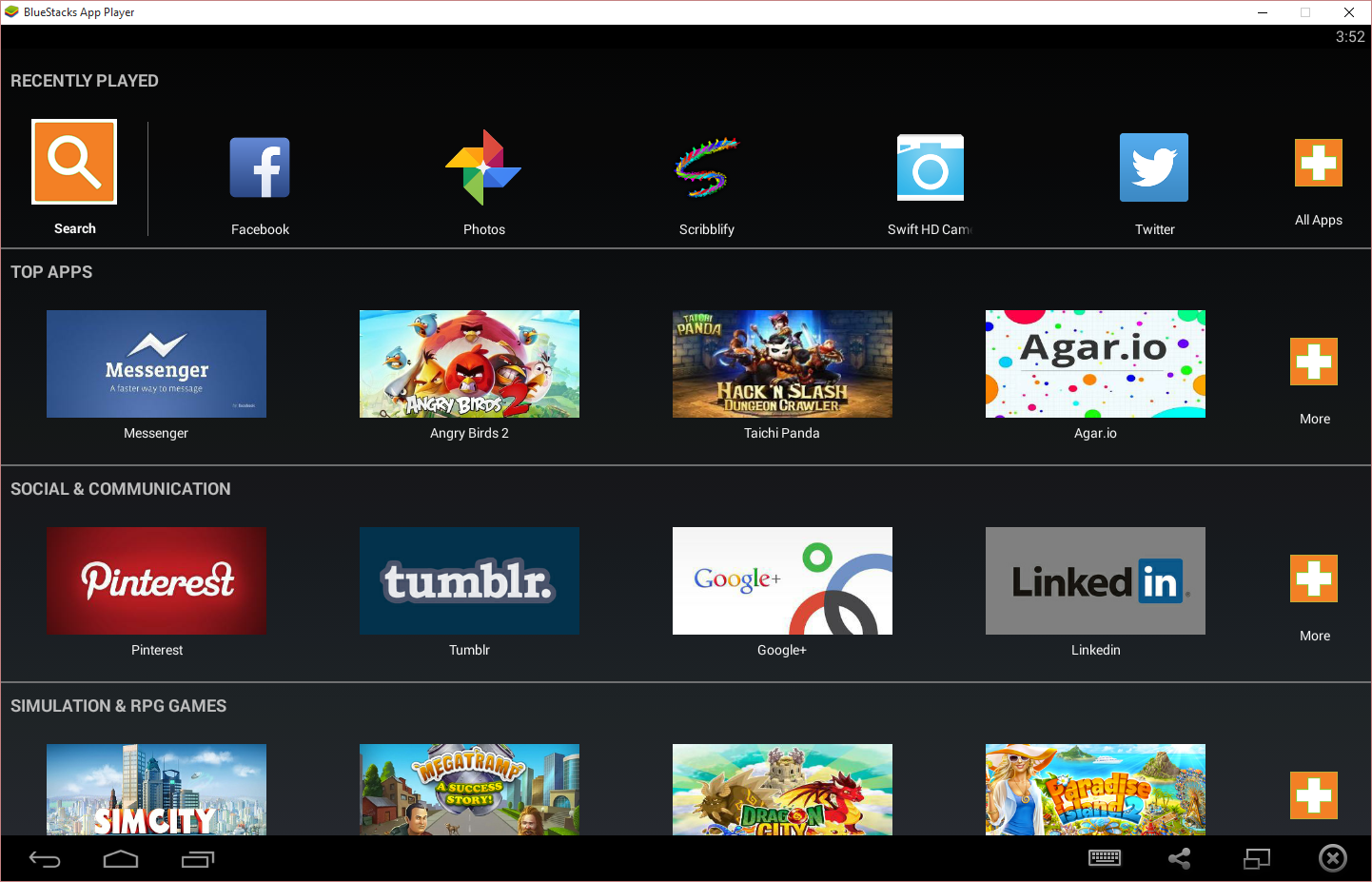 Using Bluestacks for Fast Android Emulation | Matt's Repository