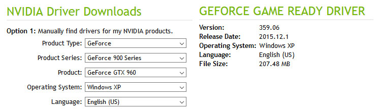 GTX 960 Official Drivers